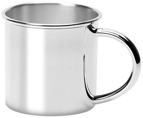 Krysaliis Silver Plated Baby Cup, Traditional back-191534