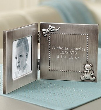 1-800-Flowers - Personalized New Baby Frame Tooth & Curl Set - Personalized... front-28013