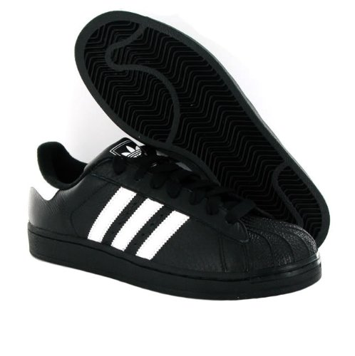 adidas superstar 2 black and white size 6
