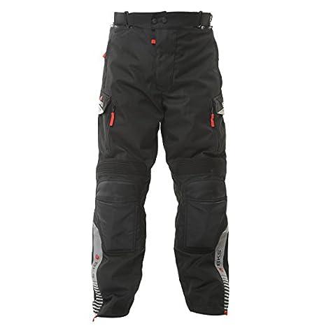 BKS Mission pour femme textile imperméable pour moto Jeans gris noir J & S