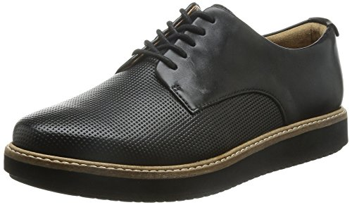 Clarks Glick Darby, Scarpe Derby con lacci donna, Nero (Black Leather), 39.5