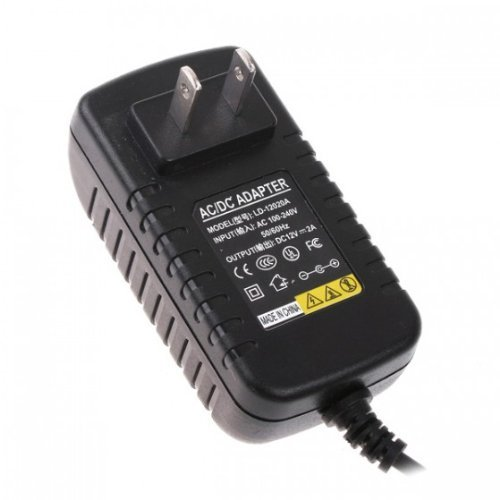 KCRIUS(TM) US plug AC 100-240V To DC 12V 2A Power Supply Converter Adapter for Led Lights Strips