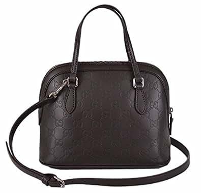 Amazon.com: Gucci Women's GG Guccissima Dark Brown Leather Convertible