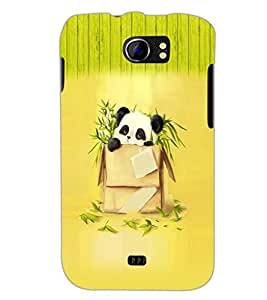 PrintDhaba Panda D-3519 Back Case Cover for MICROMAX A110 CANVAS 2 (Multi-Coloured)