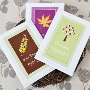 Fall for Love Personalized Wildflower Seed Favors - Baby Shower Gifts &amp; Wedding Favors