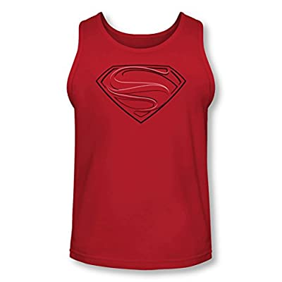 Superman Man of Steel Glyph Lines Tank Top