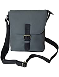 Style98 Grey Leather Women's Messenger Bag