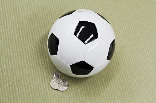Soccer Ball Sports Themed COIN Piggy Bank