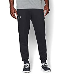 Under Armour Men\'s Rival Fleece Jogger Pants, Black (001), Medium