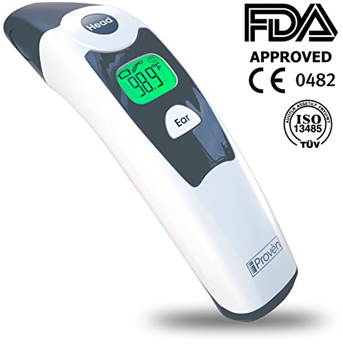 Medical Forehead and Ear Thermometer – the Authentic FDA Approved Professional Thermometer iProven DMT-116A – Unmatched Performance with Revolutionized Technology