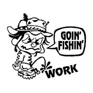 PeeN WORK / GOING FISHING Vinyl Sticker/Decal