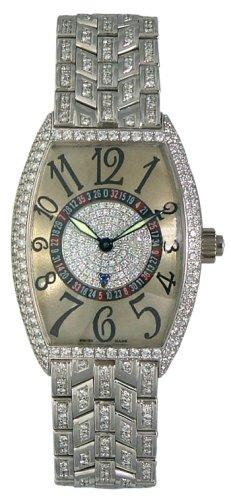 Franck Muller Cintree Curvex Vegas 18k White Gold Diamonds Men's Watch - 5850