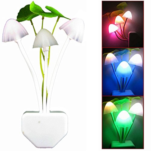 Novel Mushroom Light Sensor Led Night Bed Bedroom Decoration Light Lamp