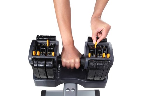 41D6 LD7l4L Turbo Bell Adjustable Weight Dumbbell with Stand, TB560