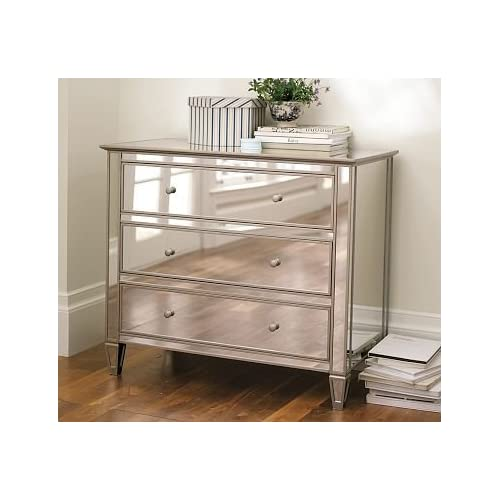 Pottery barn park mirrored dresser for Bedroom furniture amazon