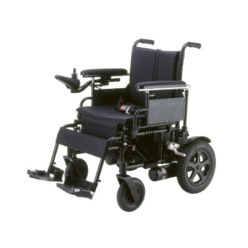 Drive Medical Cirrus Plus Folding Power Wheelchair With Footrest And Batteries, Black, 22""