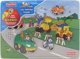Fisher Price City Vehicle Puzzle - 1
