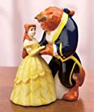 DISNEY BEAUTY & THE BEAST SALT & PEPPER SHAKER SHAKERS Licensed Magnetic Collectible brand New