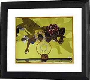 Magic Johnson signed Los Angeles Lakers 16x20 Photo Custom Framed vs Jordan- JSA... by Athlon Sports Collectibles