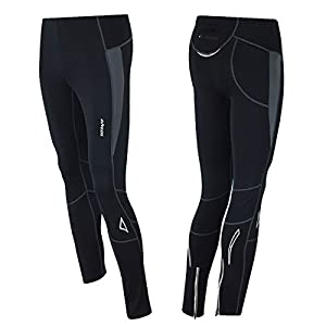 AIRTRACKS WINTER FUNKTIONS LAUFHOSE PRO-T / RUNNING TIGHT / THERMO HOSE / REFLEKTOREN - LANG - S