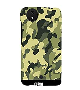 Fuson Millitary Pattern Back Case Cover for MICROMAX CANVAS A1 ANDROID ONE - D3677