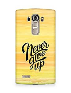 AMEZ never give up Back Cover For LG G4