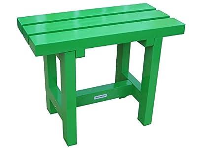 City Hocker grün 60 cm, Gartenhocker holz, Gartenbank grün glänzend von Gardendiscount auf Gartenmöbel von Du und Dein Garten