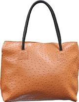 Femina Exotic Ostrich Embossed Ladies Purse Shoulderbag Tote (orange) + a FREE NutriChart®