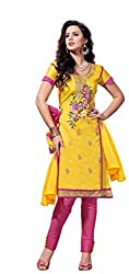 DnVeens Womens Embrodidered Unstiched Salwar Suit Dress Material