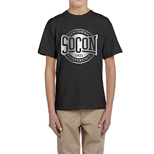 Big Boy's/Girl's Southern Conference Platinum Logo T-shirt- Black (Missouri Free Quilt T compare prices)