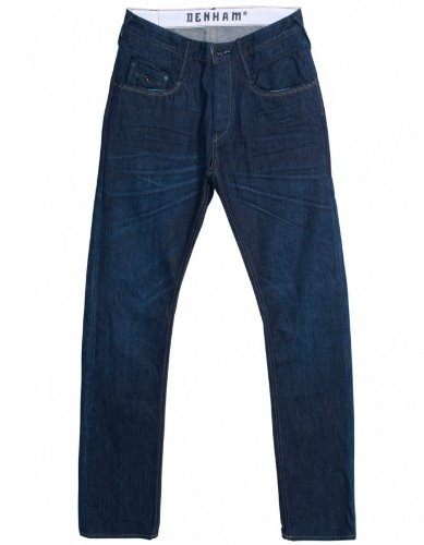 Denham Men's Pants Dark Wash Cutter Jeans 30L