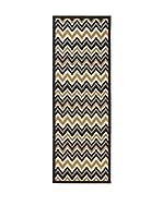 Tapis a Porter Alfombra Veranda Gris/Negro/Multicolor 80 x 230 cm