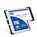 CSL-USB-30-Super-Speed-PCMCIA-Express-Card-Karte-54mm-2-Port-Windows-10-fhig-fr-Notebook-Laptop-USB-Hub-intern