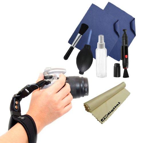Premium Camera Wrist Strap For Video Camcorders, Binoculars Or Cameras + Professional Cleaning Kit + Super Fine Jb Digital Microfiber Cleaning Cloth