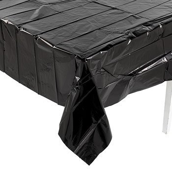 Metallic Black Tablecover - 1