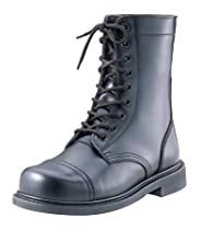 Hot Sale Black Leather GI Style Steel Toe Combat Boots 5092 Size 12