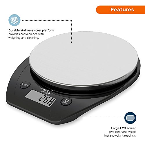 Smart Weigh Multifunctional Digital Kitchen Food Scale w ...