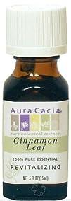 Aura Cacia  Essential Oil Revitalizing Cinnamon Leaf  0.5 oz.