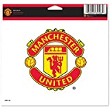 "MANCHESTER UNITED OFFICIAL 4.5""X6"" SOCCER CAR WINDOW CLING DECAL"