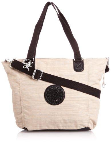 Kipling Women's Shopper Combo S Tote, Beige Black C, K12275B47