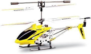 Syma S107G 2nd Edition - Helicóptero de radiocontrol para interiores, color amarillo