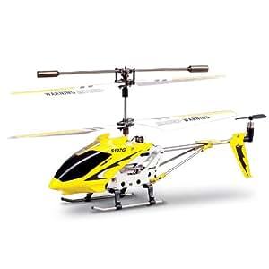 Syma S107G 3 Canali elicottero infrarossi controllata con controllo di stabilità giroscopica - Giallo