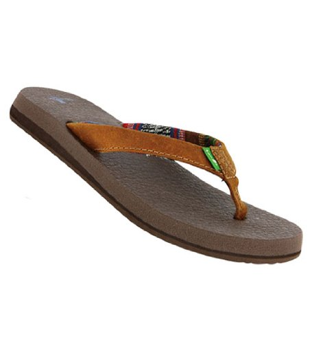 Sanuk Yoga Shoes Amazon: Sanuk Yoga Mat Leather Womens Sandal- Brown