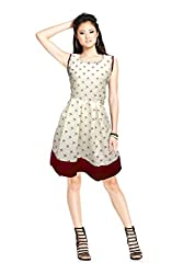 SHUBHAM CREATION Women's Kashmira micro COTTAN cream red PRINTED semi-stitched ONLY TOP KURTI Dress Material