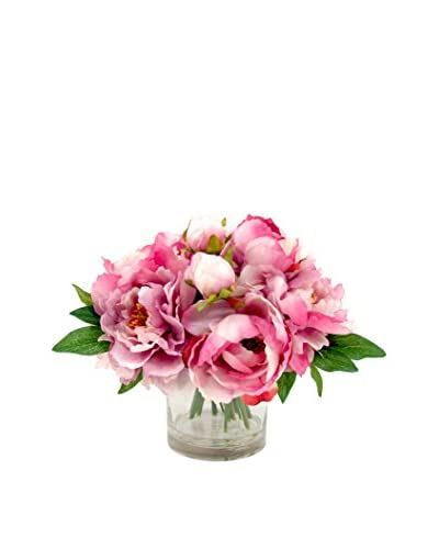 Creative Displays Lavender Peony Bouquet in a Glass Vase