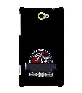 EPICCASE Jurassick park skeleton Mobile Back Case Cover For HTC One Max (Designer Case)