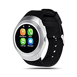 Bingo C5 Silver Smart Watch,bluetooth smartwatch compatible with anroid and ios device, sim card supportable smart watch with NANO Toughened Glass Screen . ...