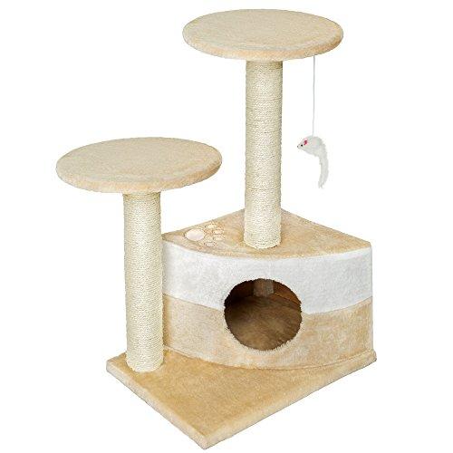 TecTake Tiragraffi per gatti gatto gioco palestra sisal nuovo altezza media beige
