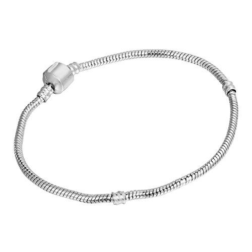 HooAMI 2X europaeischen Stil Schlangenkette Armband in Laengen 14cm,17cm,18cm,19cm,20cm,21cm,22cm,23cm,24cm