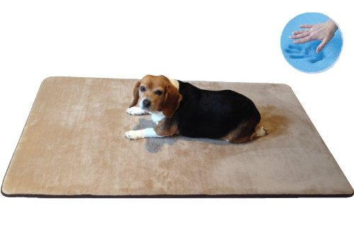 """Durable Washable Memory Foam Coral Fleece Waterproof Pet Dog Bed Mat Pillow Topper Large 42""""X28"""" Crate Size"""